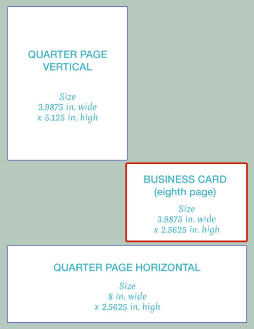 Business Card Size Ad for OHMA Newsletter